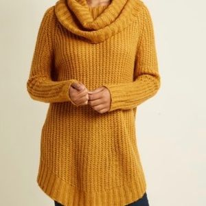 Dreamers by Nordstrom Yellow Knit Sweater Sz L